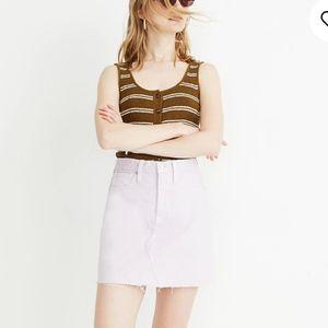Madewell Ridgid Denim A-line Mini skirt l sz 28